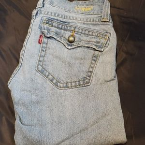 Levi's slouch 504 caprice length Jean's size 5